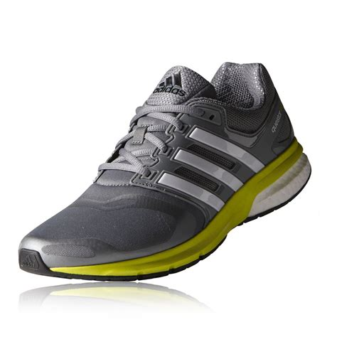 adidas questar boost techfit mens grey cushioned running shoes trainers new ebay