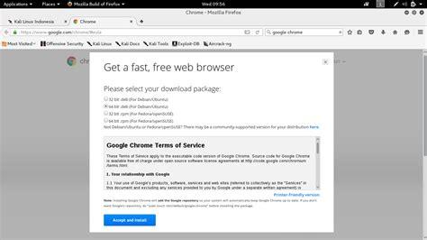kali linux rolling tutorial cara install google chrome di kali rolling kali linux
