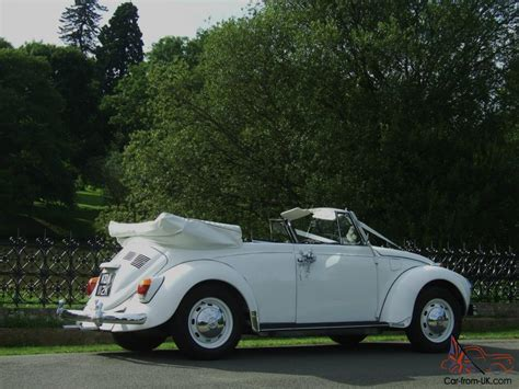 volkswagen old convertible tax exempt white classic volkswagen beetle karmann