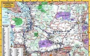 washington map detailed