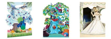 santoro graphics swing cards paper engineering pop up books swing cards 3d books
