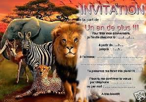 carte invitation animal large choix produits 224 233 couvrir