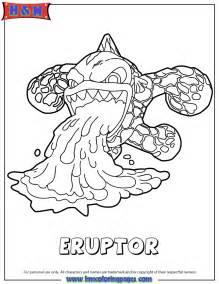 skylander coloring pages skylanders eruptor serie3 coloring page
