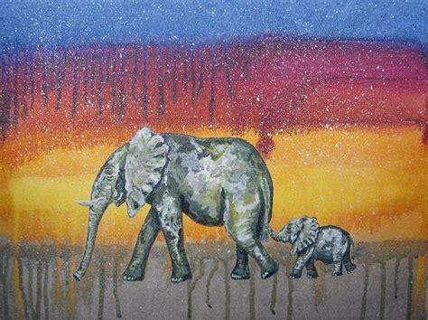 painting of zoo animals made elephant nursery safari zoo animal jungle