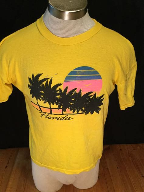T Shirt Emerica B vintage 1980 s tourist t shirt surf size large florida surf 50th and