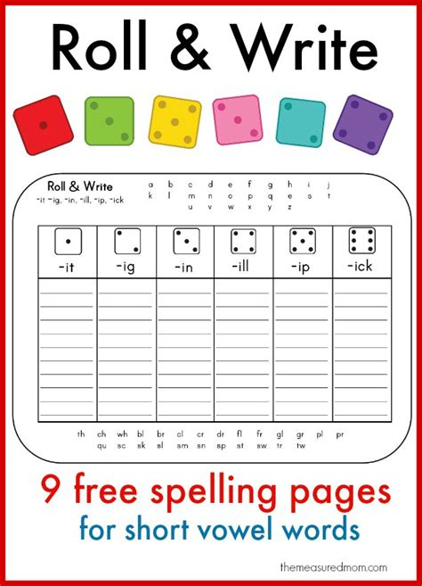 Free Spelling Worksheets by Learn To Spell Vowel Words With These Printables