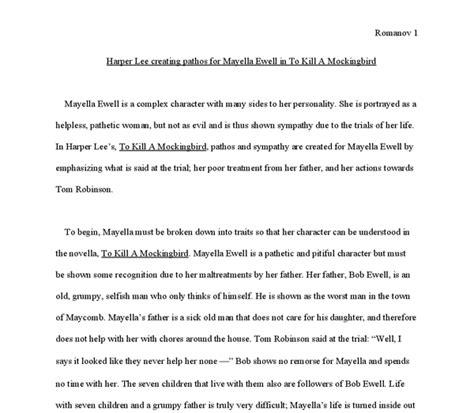 Mayella Ewell Essay by How Creates Pathos For Mayella Ewell In To Kill A Mockingbird Gcse Marked