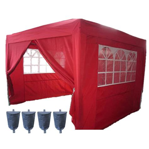 Awnings For Pop Up Cers by 3m X 3m Pop Up Gazebo Waterproof Canopy Awning Marquee