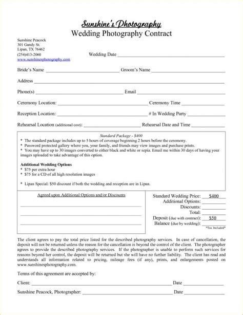sle wedding photography contract template wedding photographer contract template uk wedding ideas 2018