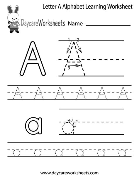 printable tracing worksheets for grade 1 free letter a alphabet learning worksheet for preschool