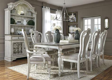 magnolia manor antique white extendable rectangular dining room set liberty coleman furniture