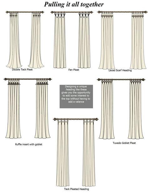 drapery heading styles 30 best curtain headings images on pinterest