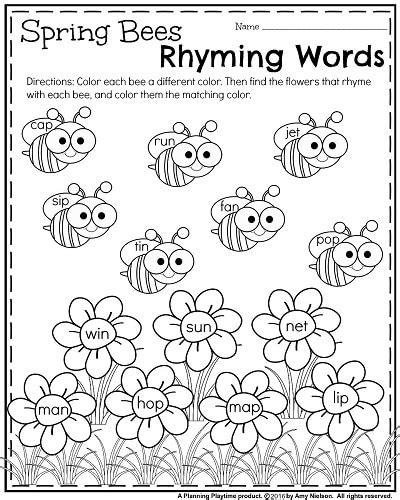pattern and rhyme year 1 kindergarten worksheets for may planning playtime