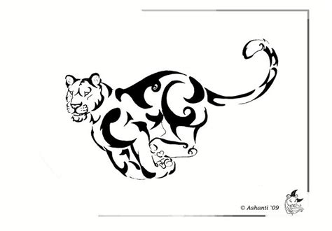 tribal lioness tattoo lioness design by a shanti on deviantart