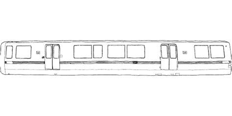 Free Vector Graphic Train Mass Transportation Metro Nyc Subway Coloring Page