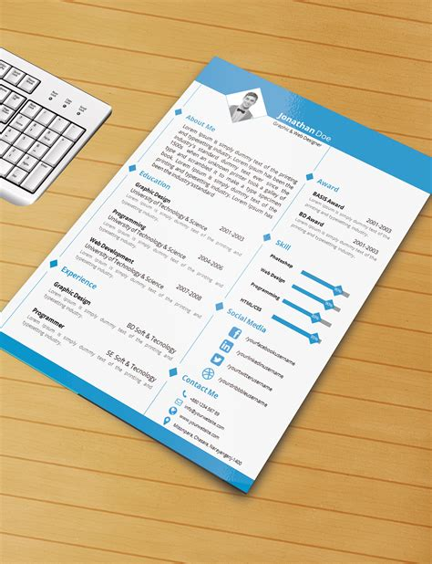 resume template with ms word file free download by