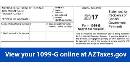 sle 1099 g arizona arizona department of revenue makes form 1099 g available