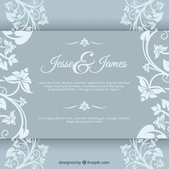 Wedding Floral Brochure by Floral Wedding Card Vector Free