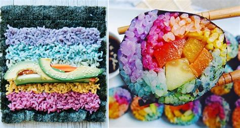 colorful food rainbow sushi on instagram has become colorful food