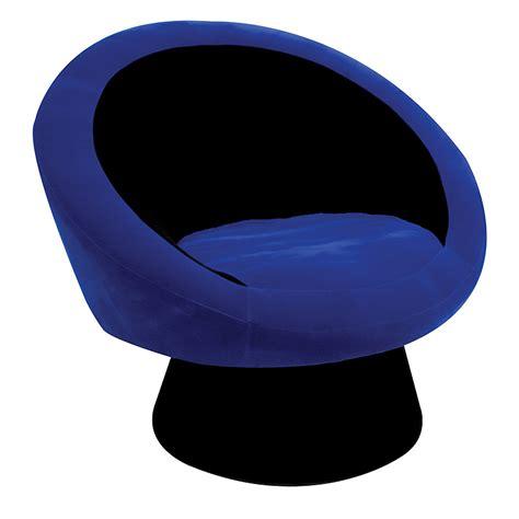 Blue Saucer Chair by Lumisource Saucer Chair Black Blue Chr Sauce Bk Bu