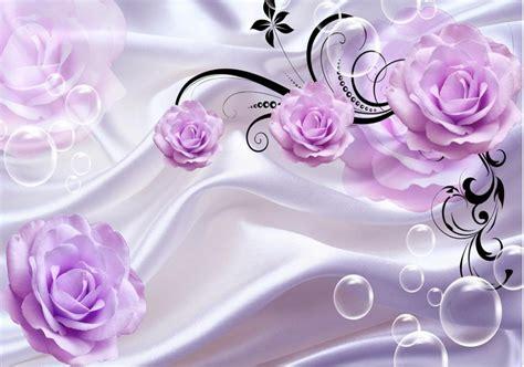 Wallsticker Purple Flower Bunga Ungu aliexpress buy purple 3d tv backdrop custom 3d