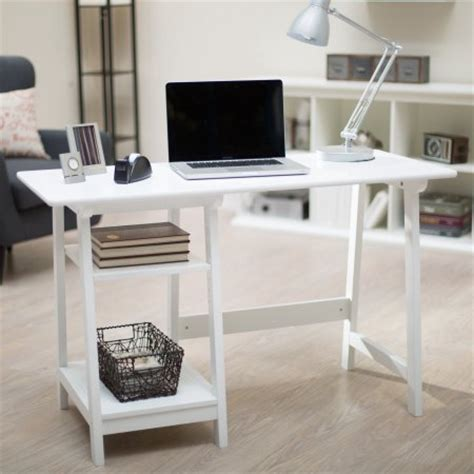 manhattan open computer desk with adjustable shelf white manhattan open computer desk with adjustable shelf