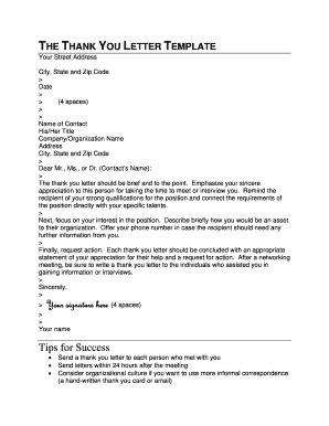thank you letter appreciation forms and templates