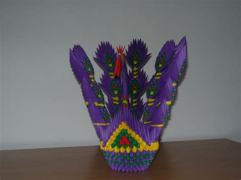 3d origami peacock diagram www imgkid the image