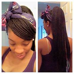pony hair box braids box braid style side swoop with a high ponytail and a