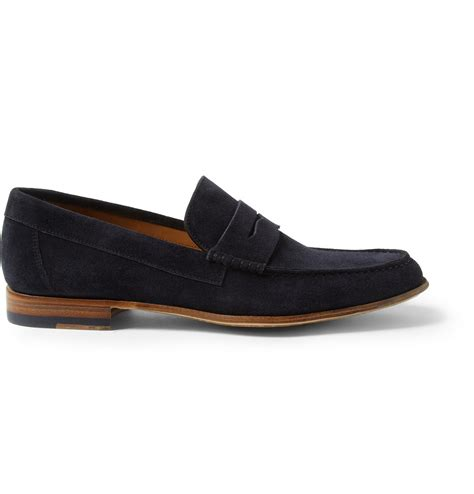 paul smith loafers paul smith casey suede loafers in blue for lyst