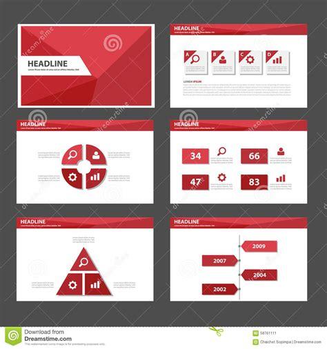red polygon multipurpose infographic presentation brochure