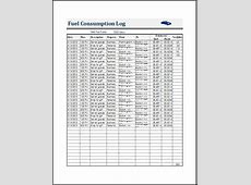 Fuel Consumption Log Template for MS EXCEL & Calc ... Excel Spreadsheet Templates Download