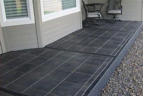 grey stained painted concrete front porch floor patio