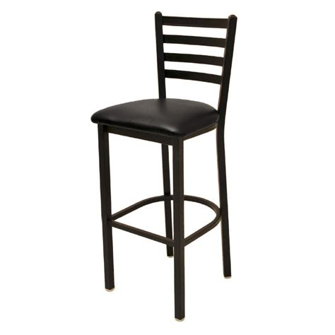 restaurant supply bar stools oak street sl1301 economy bar stool w metal ladder back