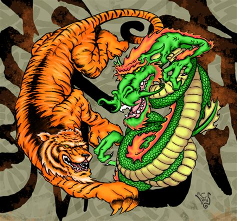 dragon and tiger chroma by jonlarkins on deviantart