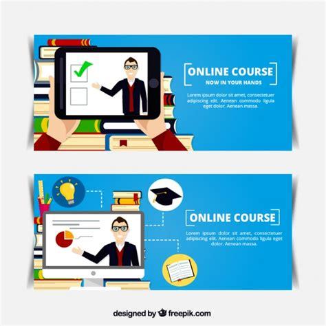 planos en linea banners planos de curso en l 237 nea descargar vectores gratis