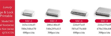 Tray Sushi Ssc 6 Ssc6 ssc 6 blk hinged cont 50x12p 600 cs ekiba packaging