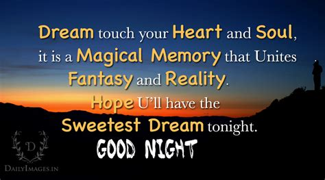 good night dream touch  heart  soul daily images