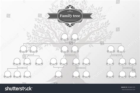 Genealogical Tree Your Family Hand Drawn Oak Stock Vektor 303681635 Shutterstock Vintage Genealogical Family Tree Sketch Vector Illustration Stock Vector