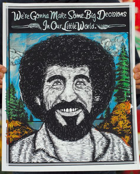 bob ross painting poster bob ross print by xzebulonx on deviantart