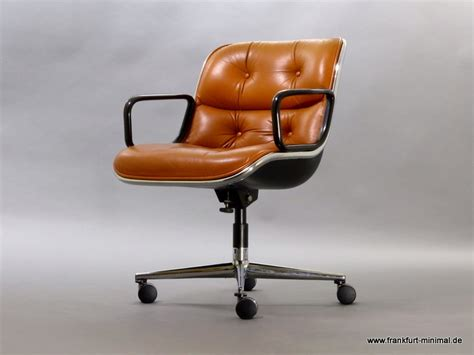 Leather Armchair Pollock Executive Chair With Armrests Knoll Leather