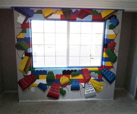 lego themed bedroom lego mural in lego themed kid s room