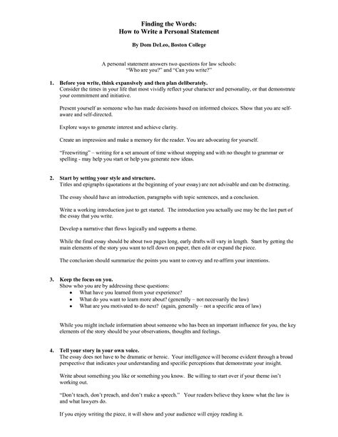 how to start a personal statement for college top