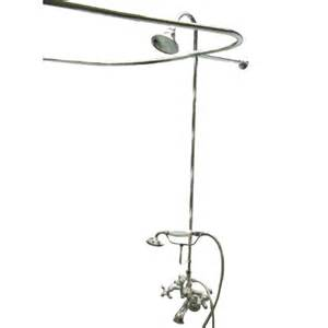 vintage bathtub faucets shop kingston brass vintage chrome 3 handle freestanding