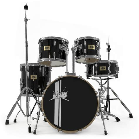 swing drummers whd birch 5 piece swing drum kit black nearly new at