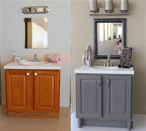 bathroom vanity makeover ideas 25 best ideas about grey bathroom cabinets on pinterest