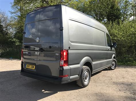 volkswagen crafter back vw crafter trendline cr35 mwb 2 0 tdi review business vans