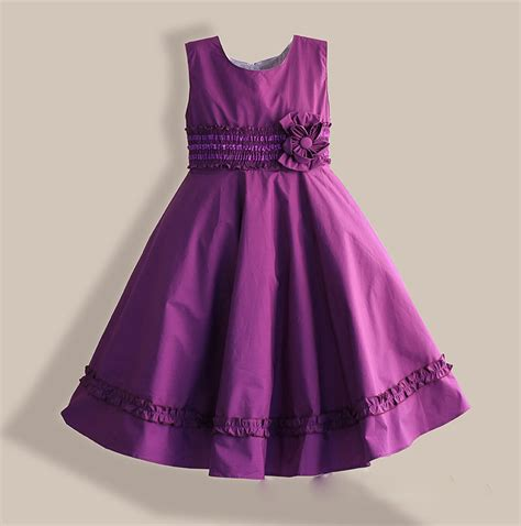 Dress Pricill Kid Purple 6 12y dress cotton casual purple clothes lace