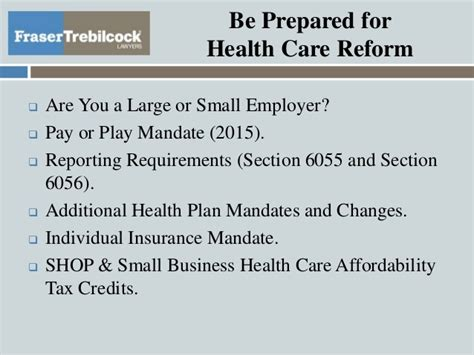 Health Care Reform Strategies For Employers
