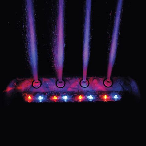 Swimming Pool Fountain Waterfall Color Cascade Pump Led Waterfall Lights